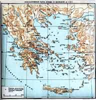 Археологическая карта Эгеиды (II тысячелетие до н.э.)