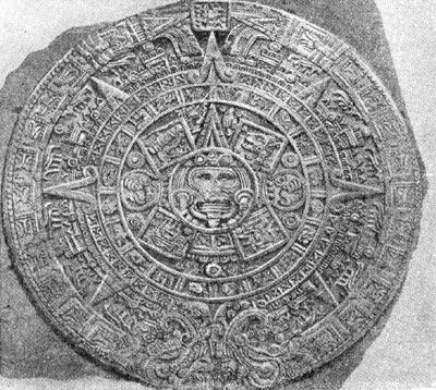 Календарь ацтеков на каменном диске