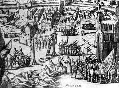 Зверства испанцев после взятия Хаарлема в 1573 г. Гравюра 1583 г.