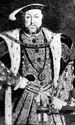 Генрих VIII. Портрет работы Ганса Гольбейна Младшего. 1637 г.
