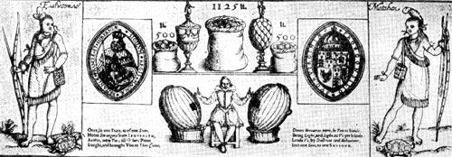 Лотерейный билет, выпущенный в Англии в 1616 г. для финансирования колонизации Виргинии.