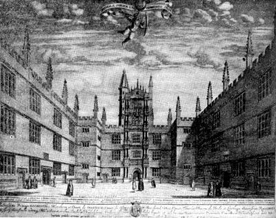 Оксфордский университет. Гравюра XVII в.