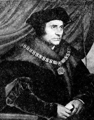 Томас Мор. Портрет работы Ганса Гольбейна Младшего.1527 г.