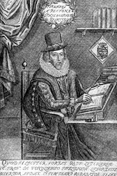 Френсис Бэкон. Гравюра середины XVII в.