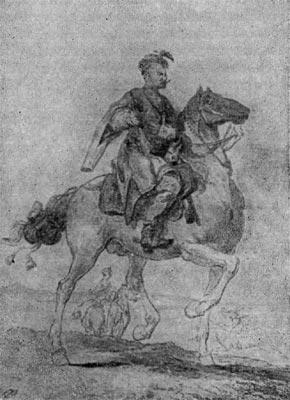 Полковник польского войска. Рисунок З. Норблина.