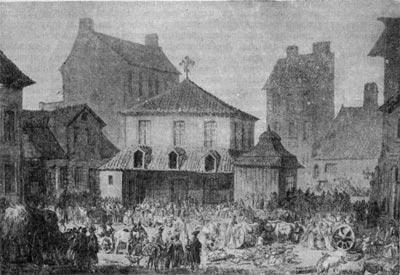 Рынок в Новом городе в Варшаве. Рисунок З. Норблина