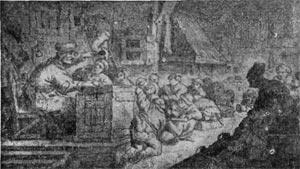 Селькая школа. Гравюра М. Морва 1657 г.