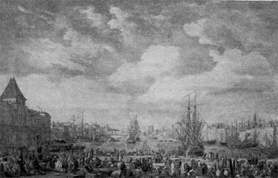Марсель. Гравюра Кошена 1760 г.
