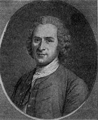 Жан Жак Руссо Гравюра О. Сент-Обена с портрета М. Латура