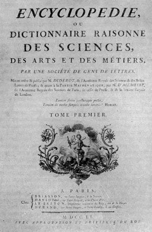 Титульный лист 'Энциклопедии' Дидро