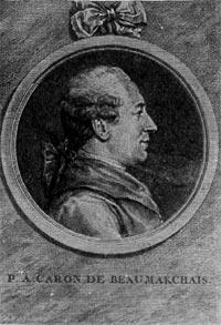 Пьер Огюстен Карон де Бомарше. Гравюра XVIII в.