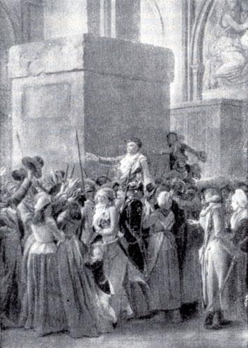 Триумф Марата. Фрагмент картины Л. Буальи.