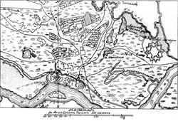 План окрестностей Черкасска XVIII века