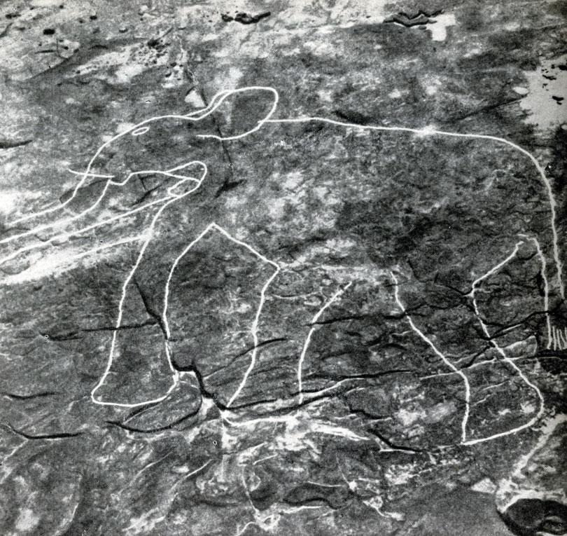6 Тимензузин. Слон, высеченный на скале Период буйвола