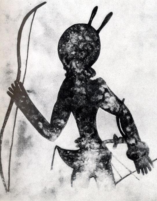23. Тин-Тазарифт, Лучники. Расцвет стиля 'круглоголовых' людей