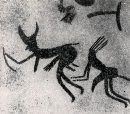 а) Стиль маленьких 'круглоголовых' рогатых фигурок
