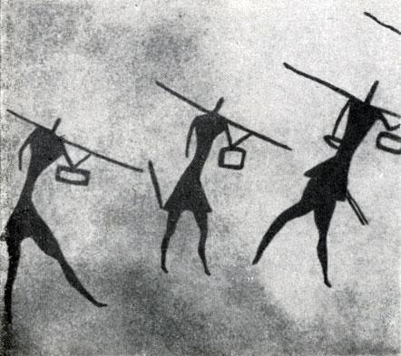 м) Стиль 'битреугольных' людей. Период верховой лошади