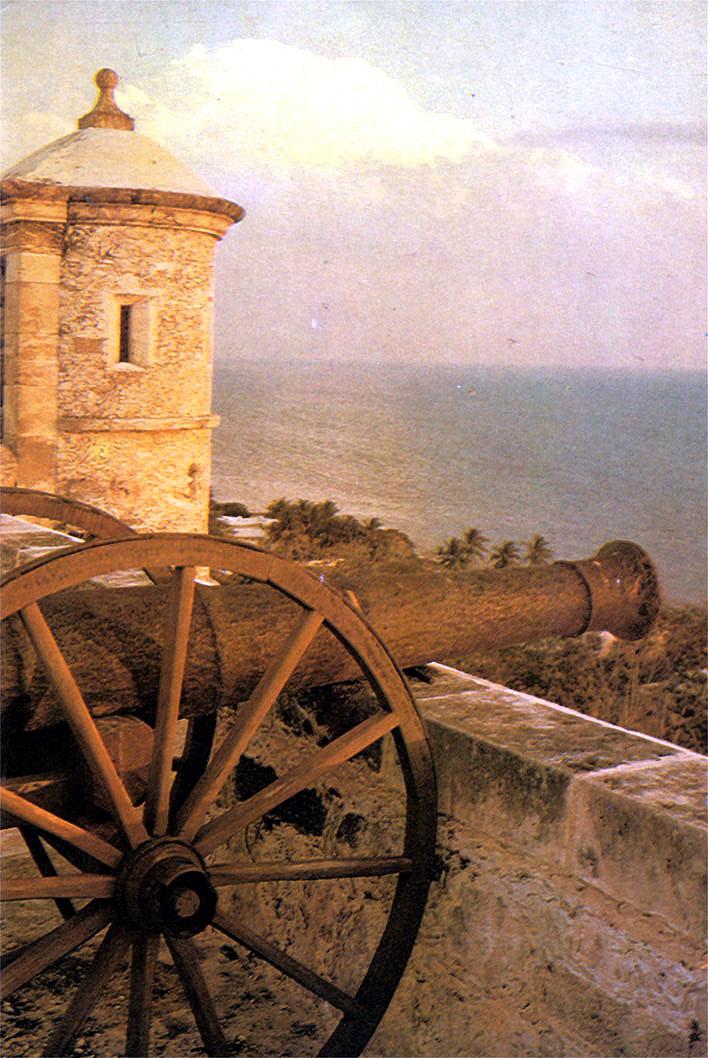 Форт в Кампече, возведенный испанцами для защиты от пиратов
