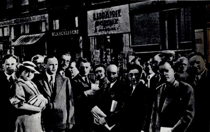 Советские писатели - делегаты международного конгресса в защиту культуры. Париж. 1935 г.