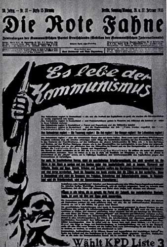 Последний номер легальной газеты Коммунистической партии Германии 'Роте Фане'. 1933 г.