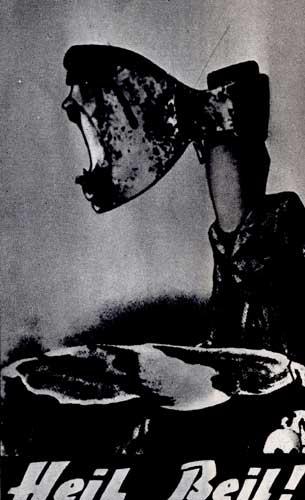 Нелегальная листовка-карикатура немецких антифашистов (почтовая открытка). 1934 г.