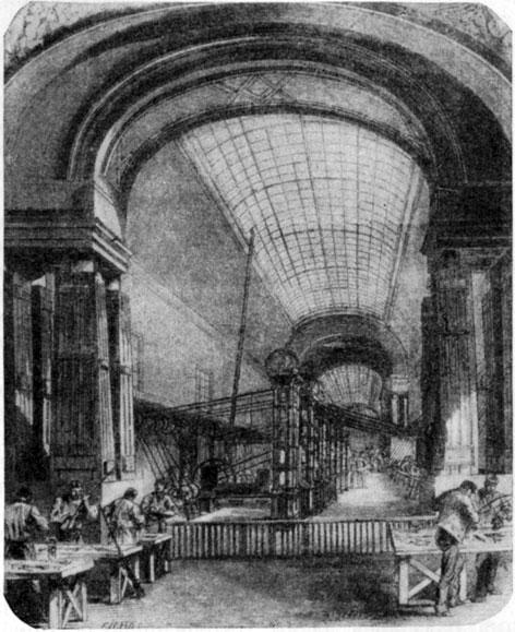 Луврские оружейные мастерские. Гравюра. 1871  г.