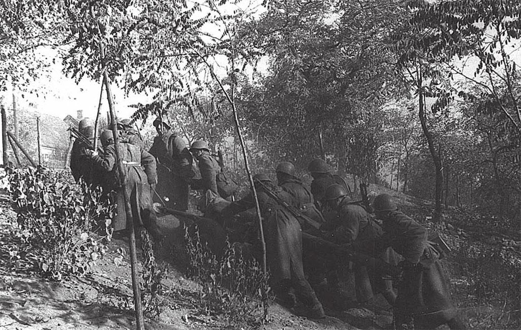 Занятие огневой позиции в Праге, 22 августа 1968 год
