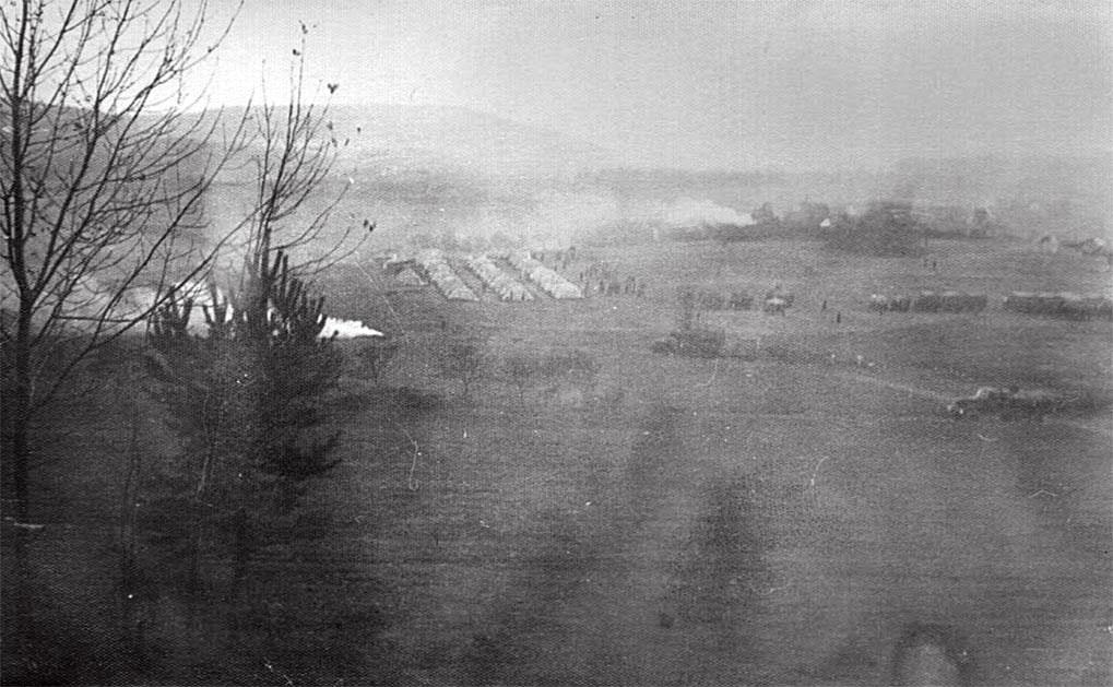 Место временной дислокации одной из войсковых частей в ходе операции 'Дунай',