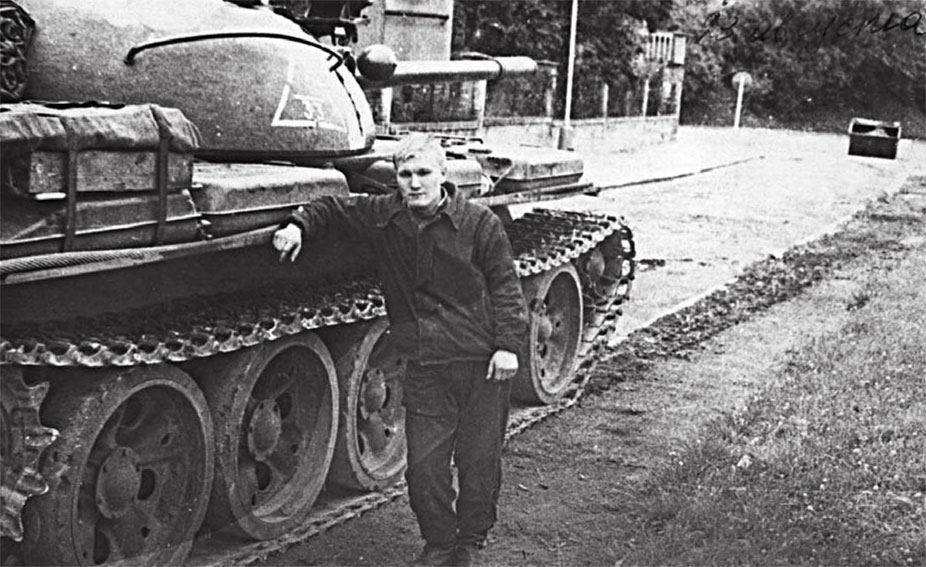 23 августа 1968 года г. Прага, 40 гв. танковый полк пп 93266. Механик-водитель танка Бабушкин В. (уроженец г. Кургана)