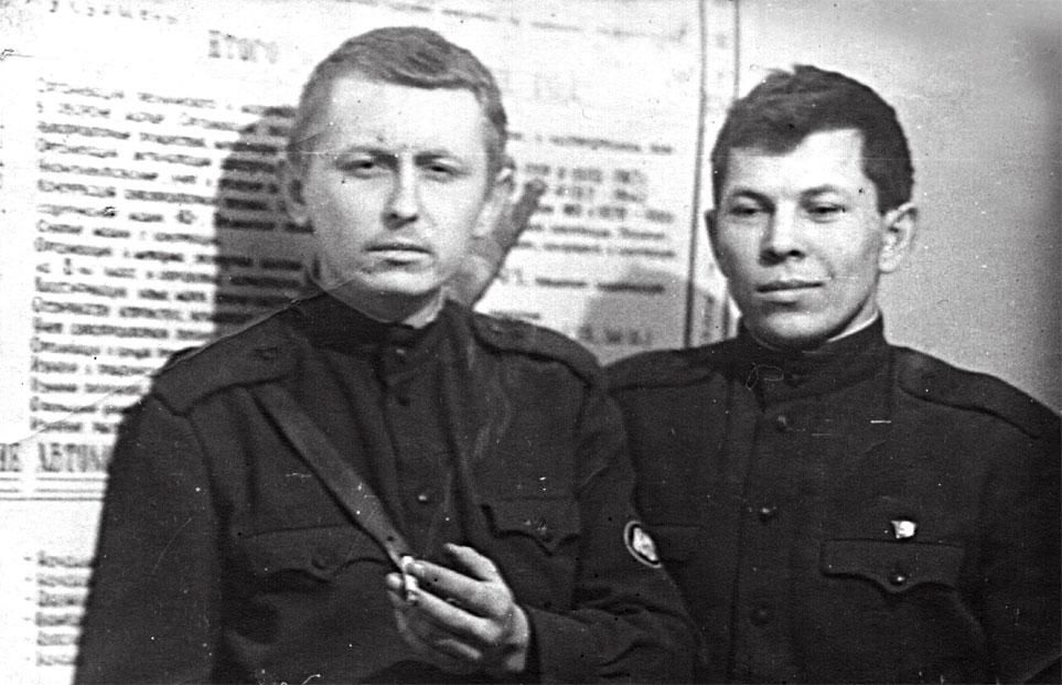 Справа - Малый Е.Н., слева - Демьяновский В.И.