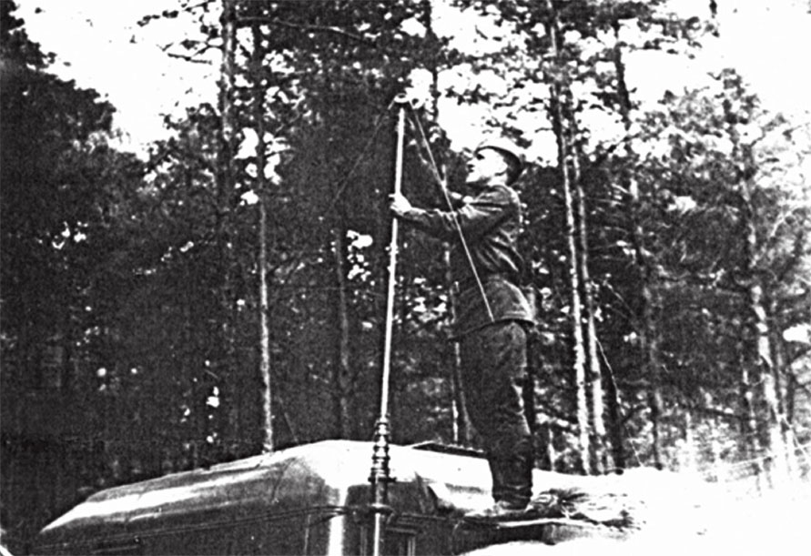 Разворачивание узла связи в районе г. Пльзень. Ходак Д.А. в августе 1968 г.