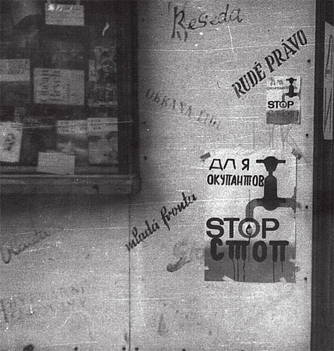 'Объявление для оккупантов', населенный пункт Емнице, где дислоцировался МСП ЧНА, август 1968 года