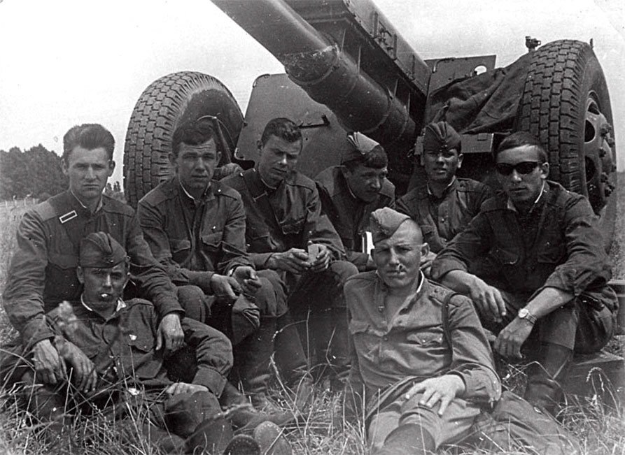 Период несения боевого дежурства. 1-я батарея 1-го дивизиона артполка 20-й ТД
