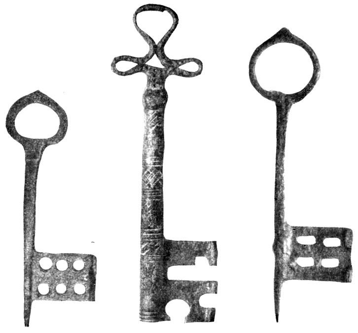 Ключи нутряных замков XIV в.