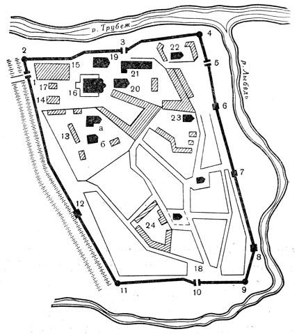 1 - Глебовская проездная башня