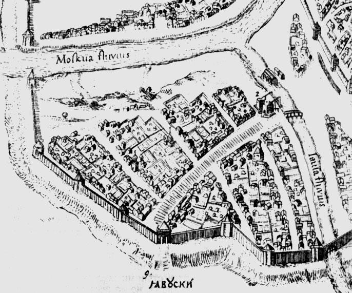 Петров план Москвы, конец XVI